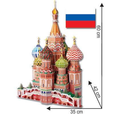 St. Basil's Cathedral - 3D Puzzle - XLarge