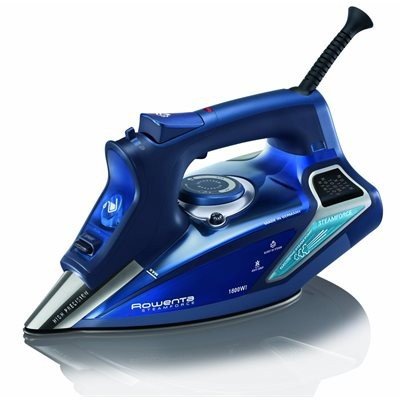 Rowenta DW9280 Steam Force Steam Iron with Stainless Steel Soleplate - Blue