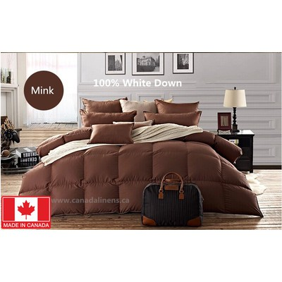 100% WHITE DOWN DUVET MADE IN CANADA Mink Color Queen size