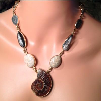 Alchemia Multi Fossil Necklace