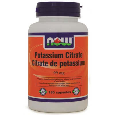 NOW Potassium Citrate 99mg