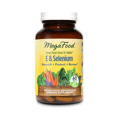 MegaFood E & Selenium 60 Tablets (60 Servings)