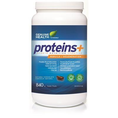 Genuine Health proteins+ natural chocolate