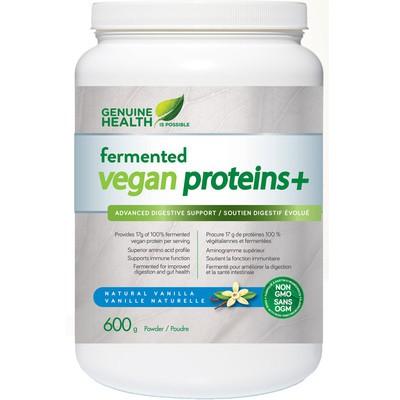 Genuine Health Fermented Vegan Proteins+ Natural Vanilla 600g powder