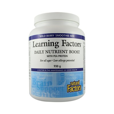Natural Factors Learning Factors Smoothie Mix with Pea Protein 930 g powder