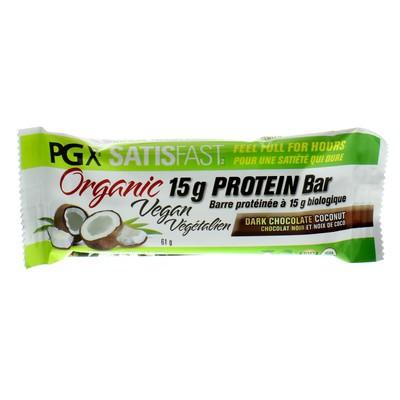 Natural Factors PGX Satisfast Organic Vegan Protein Bar - Dark Chocolate Coconut Single