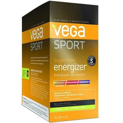 Vega Sport Sugar-Free Energizer - Lemon Lime 30 x 3.4g Powder