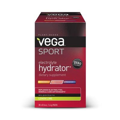 Vega Sport Electrolyte Hydrator - Lemon Lime Box of 30 Single Servings