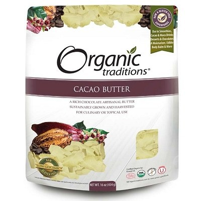 Organic Traditions Cacao Butter 16 oz / 454 g