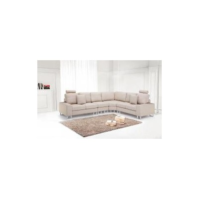 Contemporary Sectional Sofa - Fabric Beige - STOCKHOLM