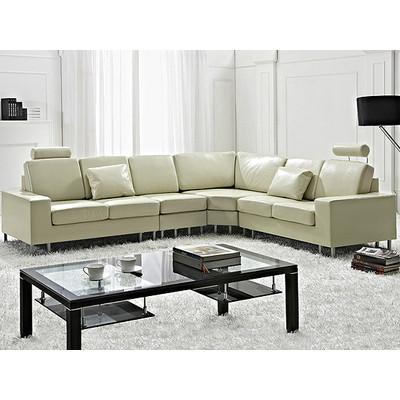 Contemporary Design Sectional Sofa - STOCKHOLM Cream