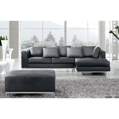 Sectional Leather Sofa - OSLO black