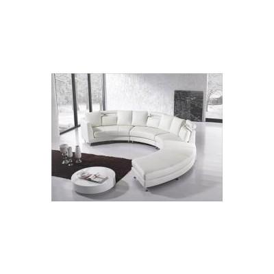 Modern Design Circular Sofa - ROTONDO white