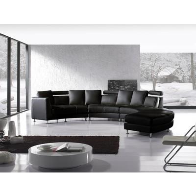 Modern Design Circular Sofa - ROTONDO black