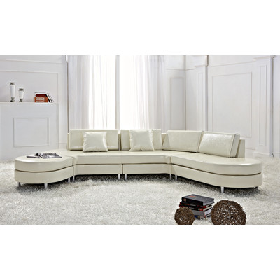 Contemporary Italian Design Sectional Sofa - COPENHAGEN cream