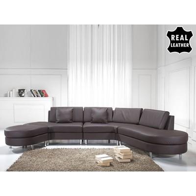 Italian Designer Sectional Sofa - COPENHAGEN brown