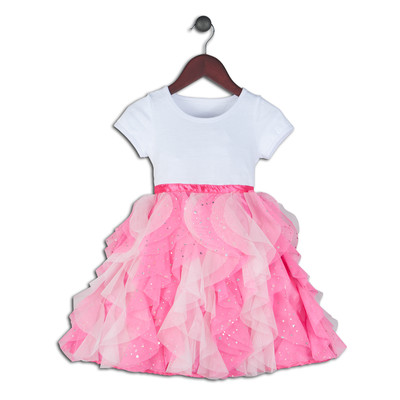 Daniella Stretch Knit Bodice with Glitter Tulle Tiers