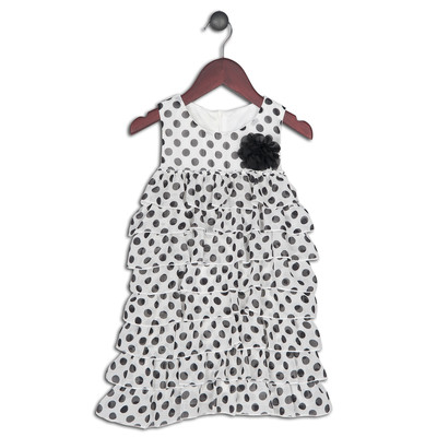 Mimmie Polka Dot Ruffle Dress