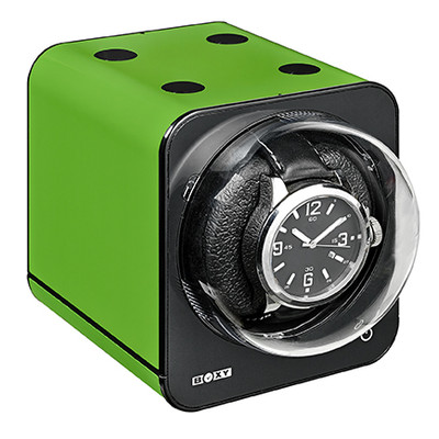 BOXY FANCY SINGLE BRICK STACK ABLE WATCH WINDER - GREEN