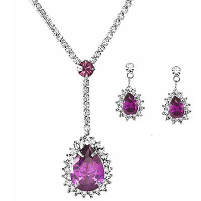 Platinum Plated Auden Crystal Jewellery Set