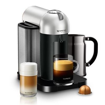 Nespresso Vertuoline GCA1-CHPK Coffee Maker with Aeroccino Plus - Chrome