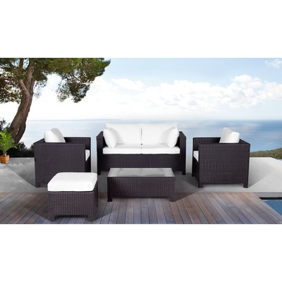Contemporary Outdoor Wicker Patio Furniture Sofa Set - LUGANO