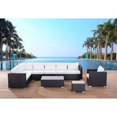 Sectional Outdoor Lounge Set Modern Patio Furniture - GENEROSO