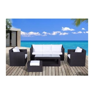 Modern All-weather Wicker Garden & Patio Furniture Sofa Set - ASCONA