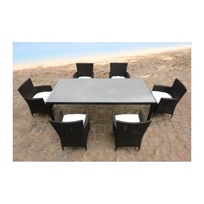 Outdoor Wicker Dining Set Patio Furniture - CHIASSO 6
