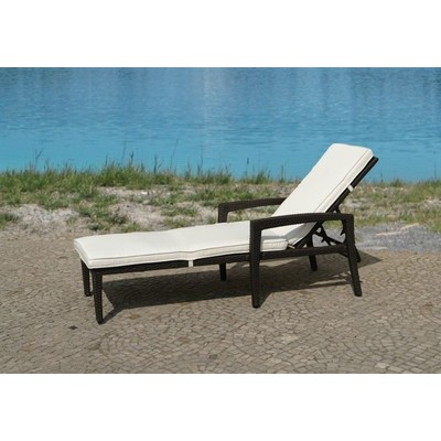 Outdoor Lounge Chair, Resin Wicker Lounger - PERUGIA