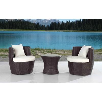 Outdoor Bistro Set - Patio Furniture for Condo and Porch - CRESTA