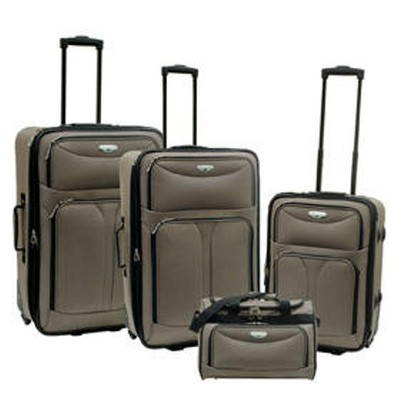 Bon Voyage Luggage Excursion Collection 4 Piece Set - Taupe Color