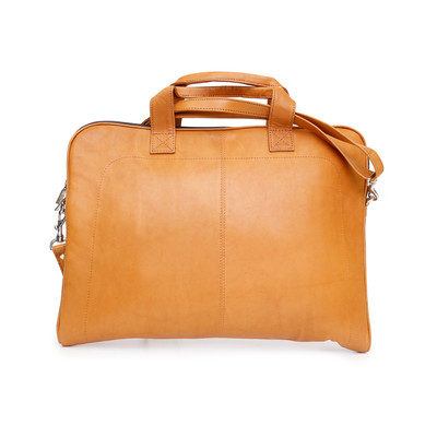 Genuine Leather Slim Laptop Case, Tan