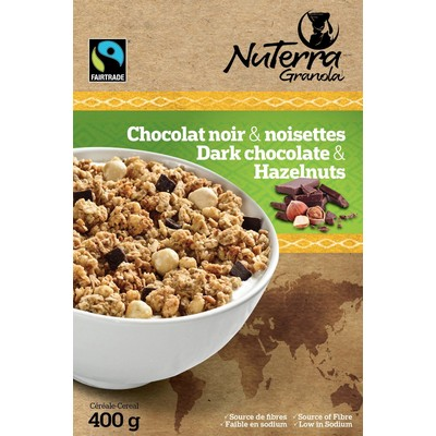 Dark Chocolate & Hazelnuts - Fairtrade Granola - Pack of 8