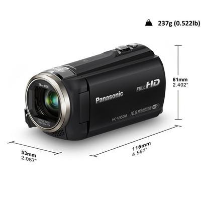 Panasonic-Refurbished Lumix HC-V550 Black High Definition Video Camera - Manufacturer Recertified with 90 days Warranty