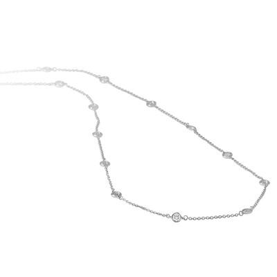 Diamond Station Necklace.