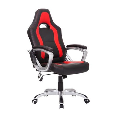 Race Car High Back Massage Office Chair Black/Red