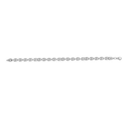 Flat Oval Link Bracelet.