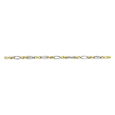 Two Tone Twisted Link Bracelet