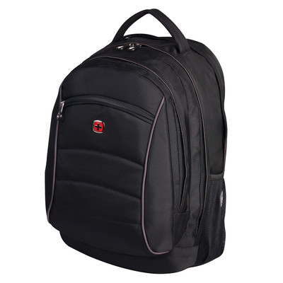 "SWISS GEAR BACKPACK FITS 15.6"" LAPTOP AND READY ACCOMMODATE MOST SLEEVED TABLETS. COLOUR - BLACK"