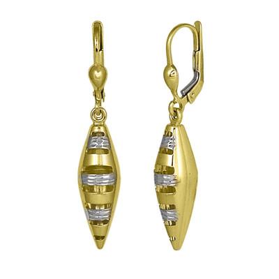 Two Tone Casket Shape Earrings