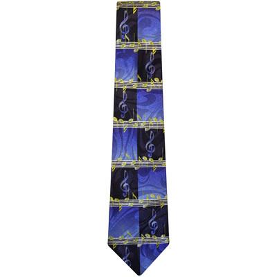 Blue and Black G-Clef Tie - Aim - 42008