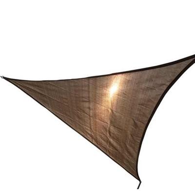 18' Triangular Sun Shade Sail Almond Canopy