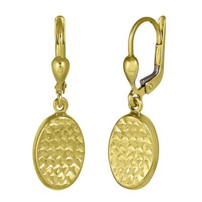 Golden Waffle Matte Earrings