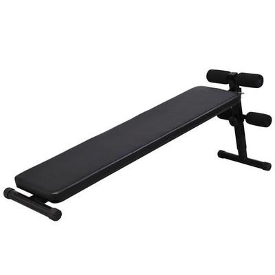 Portable Decline Adjustable Workout Sit Up Bench Black