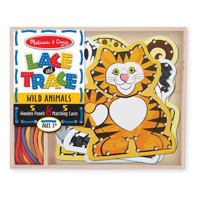 Melissa & Doug  Lace and Trace - Wild Animals