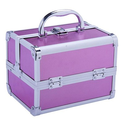 Professional Aluminium Cosmetic Makeup Case Pink