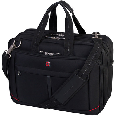 "Swiss Gear Double Gusset Laptop Brief. Fits most 17.3"" notebook computer"