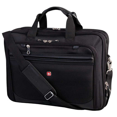 "Swiss Gear Adjust-Fit Scan Smart Deluxe Case. Fits laptop from 13"" to 17""."