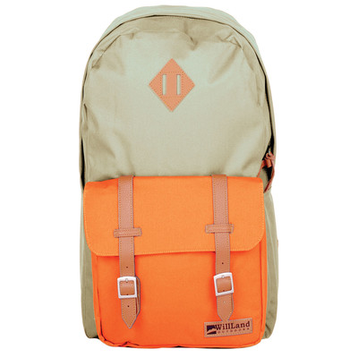 WillLand Outdoors College Romantica 25L Backpack, Beige/Orange